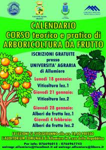 locandina calendario corso alboricoltura 16
